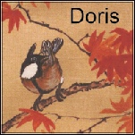 Nice bird close up in Chinese paingint. Label Doris. Links out to bob site on wife Doris.
